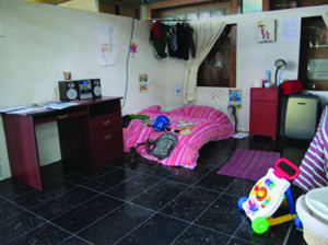 Typical room in direct provision