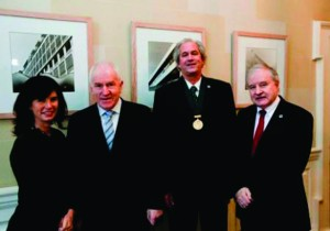 Kathryn Meghen, RIAI Assistant Director, former Minister Jimmy Deenihan, RIAI President Robin Mandal and RIAI Director John Graby