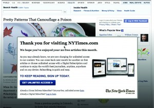 paywall - new york times screen