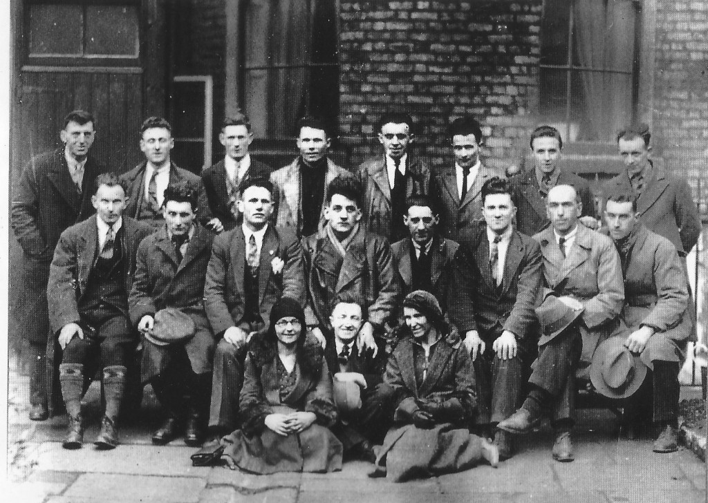 Prisoners released from Arbour Hill and Mountjoy, March 1932 (National Library). Middle row, second from left, George Gilmour