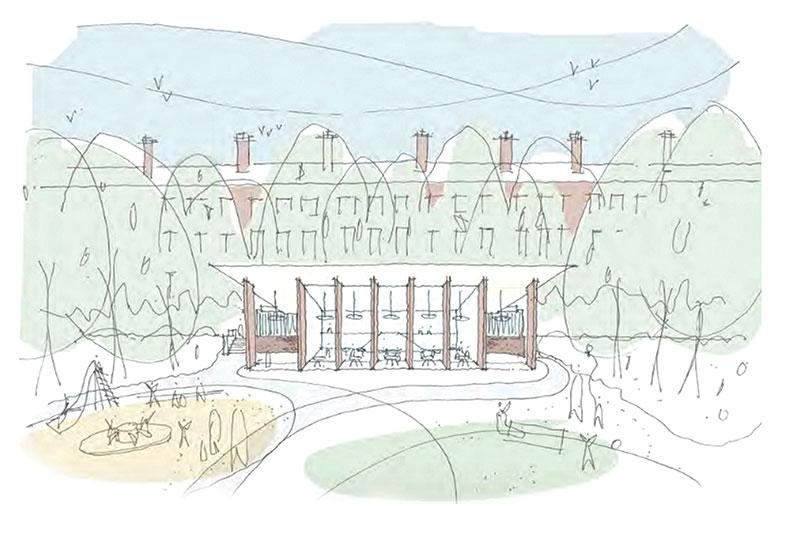 Montages of Diaspora Pavilion proposal