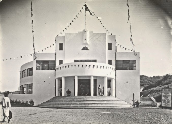 Art Deco-style building, the Floral Hall, in Belfast, Northern Ireland.